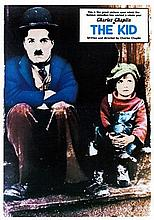 LARGE CHARLIE CHAPLIN THE KID REPRODUCTION POSTER.