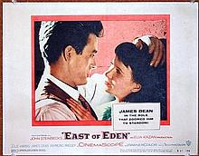 JAMES DEAN DEBUT FILM FULL SET OF 8 EAST OF EDEN US LOBBY CARDS.