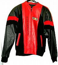 MICHAEL JACKSON - HEAL THE WORLD 1992 LEATHER AND SUEDE TOUR JACKET.
