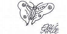 THE BUTTERFLY DRAWING BY ERIC CARLE ON A4 CARD