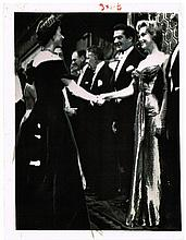 MARILYN MONROE MEETS QUEEN ELIZABETH II PHOTOGRAPH.