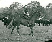 JACKIE KENNEDY ON VACATION IN IRELAND VINTAGE 1967 PRESS PHOTOGRAPH.