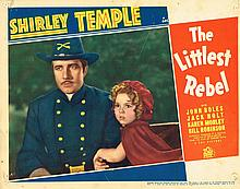 SHIRLEY TEMPLE 1935 USA THE LITTLEST REBEL LOBBY CARD.