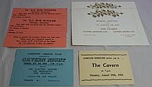 CAVERN CLUB SIX CLUB TICKETS AND CARDS FROM 1963/1964.