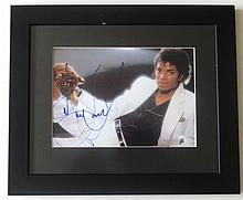 MICHAEL JACKSON ALTERNATIVE THRILLER SIGNED PHOTO FRAMED.