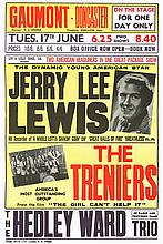 JERRY LEE LEWIS BOXING POSTER CANCELLED CONCERT DUE TO MARRIAGE SCANDAL.