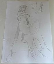 MICHAEL JACKSON HEAL THE WORLD DRAWING.