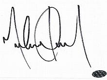 MICHAEL JACKSON SIGNED CARD