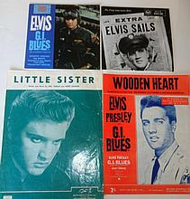 ELVIS PRESLEY COLLECTION OF MEMORABILIA.