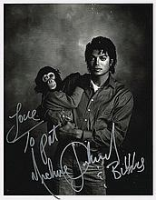 MICHAEL JACKSON AND BUBBLES SIGNED PICTURE/MURAL PICTURES.