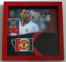 RYAN GIGGS MANCHESTER UNITED SIGNED SOCK.