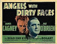 ANGELS WITH DIRTY FACES LOBBY TITLE CARD R-1940'S