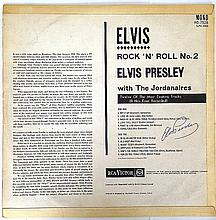 ELVIS PRESLEY SIGNED ROCK N ROLL PART 2 LP
