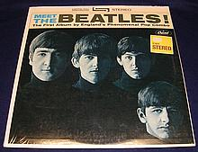 SEALED MEET THE BEATLES 1964 VERY EARLY PRESS STEREO RIAA 6.