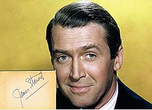 JAMES STEWART SIGNED AUTOGRAPH DISPLAY
