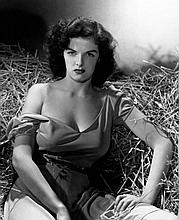 JANE RUSSELL THE OUTLAW. SILVER PEARLESCENT PRINT 18X24 INCHES.