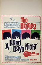 A HARD DAY'S NIGHT US WINDOW CARD.