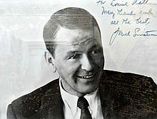 FRANK SINATRA SIGNED AND INSCRIBED PHOTO.