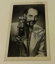 GROUCHO MARX SIGNED 1954 POSTCARD.