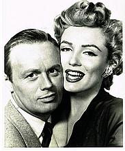 MARILYN MONROE AND RICHARD WIDMARK PROMOTIONAL PHOTO FROM 'DON'T BOTHER TO KNOCK'