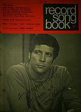 TOM JONES SIGNED 1970 SONG BOOK.