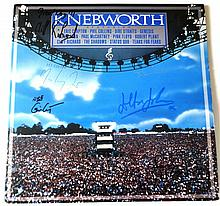 KNEBWORTH 1990 LP SIGNED - PAUL MCCARTNEY,ERIC CLAPTION,CLIFF RICHARD,ELTON JOHN, JIMMY PAGE