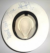 MICHAEL JACKSON SIGNED WHITE FEDORA.