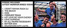 AN UNRELEASED ROBBIE WILLIAMS DEMOS MONITOR MIX CD