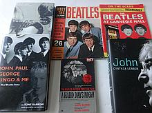 A COLLECTION OF BEATLES BOOKS AND MAGAZINES.