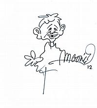 SERGIO ARAGONES (MAD MAGAZINE) GROUP OF HAND DRAWINGS.