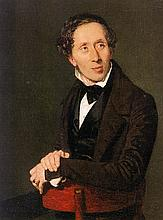 HANS CHRISTIAN ANDERSON: A STRAND OF HIS HAIR.