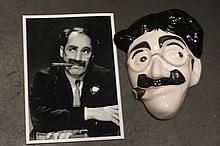 GROUCHO MARX FACE AND PHOTO.