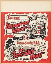 MARILYN MONROE DANGEROUS YEARS JUMBO WINDOW CARD.