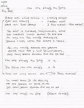 PHIL RAM HAND WRITTEN LYRICS.