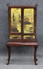JAPANESE RED LACQUERED TANSU