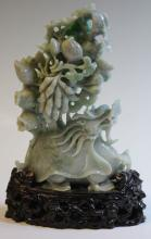 CHINESE CARVED JADE DRAGON WITH STAND
