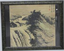 PAIR OF VINTAGE CHINESE WATERCOLORS
