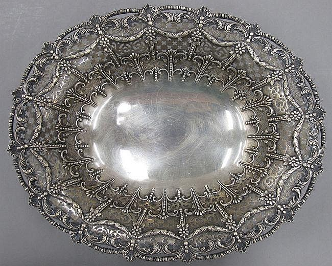 ENGLISH SILVER CENTER BOWL Brighton Bros. London &