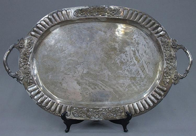 STERLING SILVER TRAY length- 26 1/4