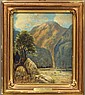 FRANK J. GIRARDIN (1865-1945)             OIL ON BOARD             Title- Sespe Condor Sanctuary             estimate 600-900