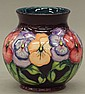MOORCROFT POTTERY VASE             height- 6