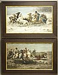 PAIR OF ADOLF SCHREYER LITHOGRAPHS (1828-1899)