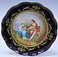 SEVRES PORCELAIN PAINTED TAZZA