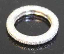 PAVE SET DIAMOND 14KT ETERNITY BAND