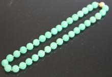 EARLY CHINESE CARVED JADE BEADED NECKLACE