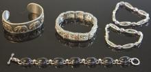 LOT OF (5) STERLING SILVER BRACELETS