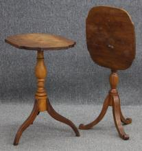 LOT OF (2) EARLY AMERICAN MAPLE SIDE TABLES