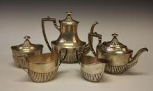 J.D. CALDWELL STERLING SILVER 5 PC. TEA SERVICE