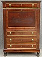 ENGLISH REGENCY MAHOGANYSECRETARY with marble topcirca early 19th centuryheight- 58