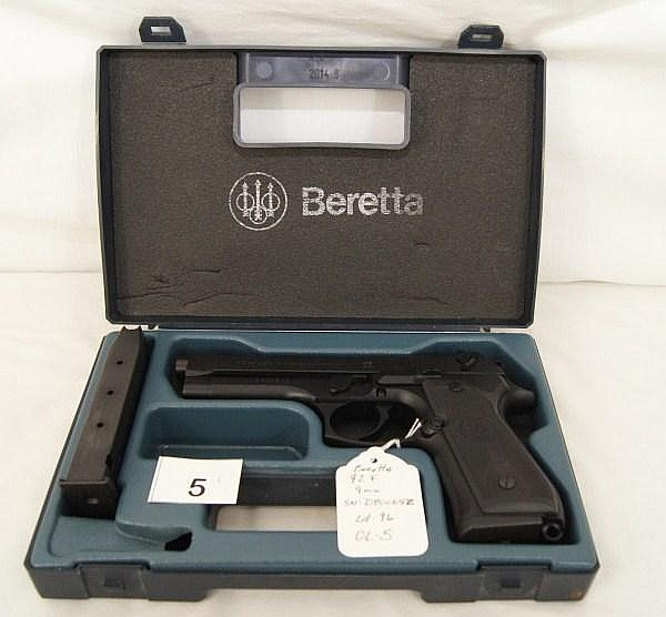 Beretta Model 92F, Pistol, 9 MM
